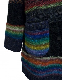 Fuga Fuga multicolor wool coat price