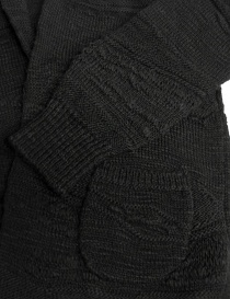 Fuga Fuga dark grey wool cardigan womens knitwear buy online