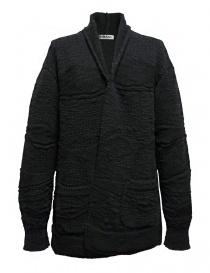 Cardigan Fuga Fuga in lana colore grigio scuro online