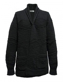 Womens knitwear online: Fuga Fuga dark grey wool cardigan