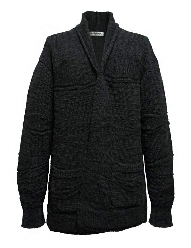 Fuga Fuga dark grey wool cardigan FAGA-127-81 womens knitwear online shopping