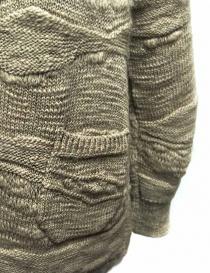 Cardigan Fuga Fuga in lana colore beige maglieria donna acquista online