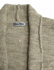Cardigan Fuga Fuga in lana colore beige prezzo