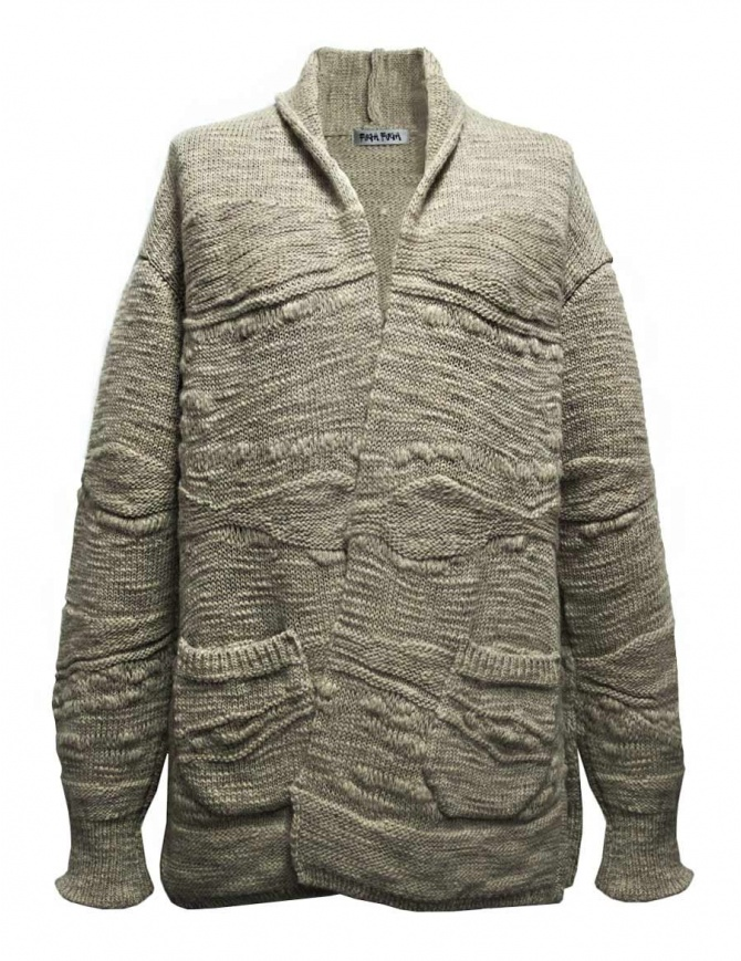 Cardigan Fuga Fuga in lana colore beige FAGA-127-31 maglieria donna online shopping