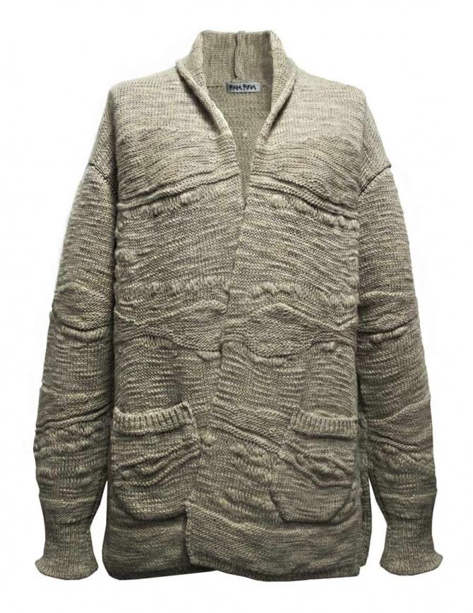 Fuga Fuga beige wool cardigan FAGA 127 31 womens knitwear online shopping