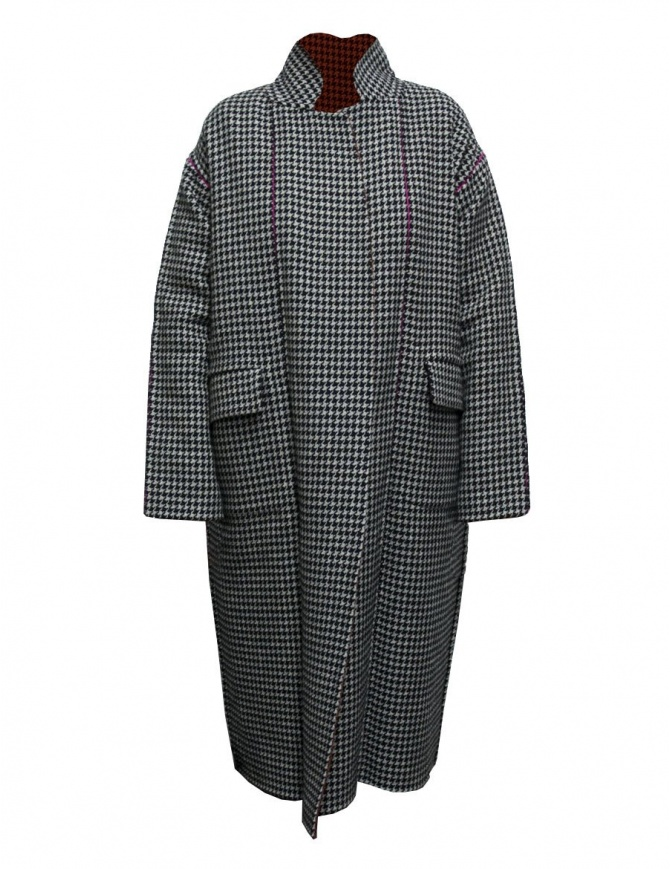 Beautiful People pied de poul coat 1735103023-BLACK-COAT womens coats online shopping