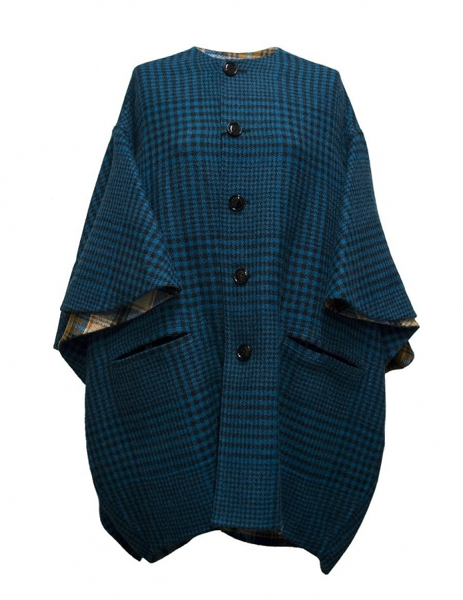 Beautiful People checked peacock blue coat 1735103007-PEACOCK-COAT womens coats online shopping