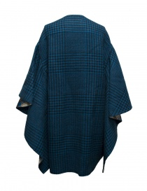 Cappotto Beautiful People a quadri colore blu pavone prezzo