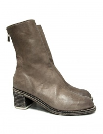 Womens shoes online: Guidi M88 light gray leather ankle boots