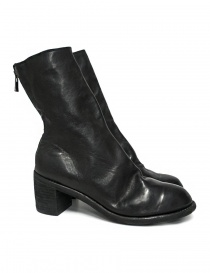 Womens shoes online: Guidi M88 black leather ankle boots