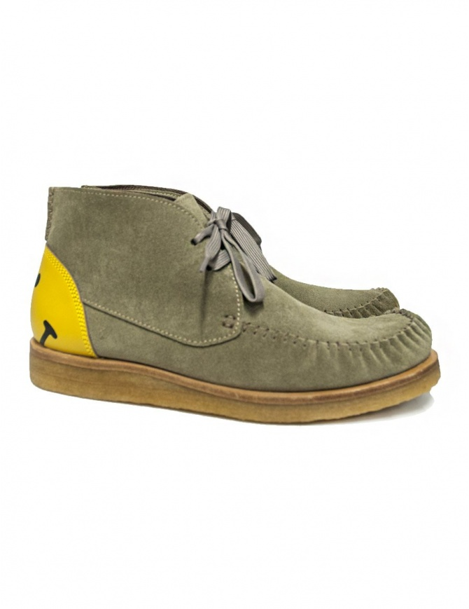 Scarpa Kapital Wallaby in pelle scamosciata colore grigio K1909XG564 BEIGE SHOES calzature uomo online shopping