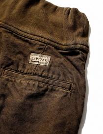 Pantalone Kapital con elastico colore marrone prezzo