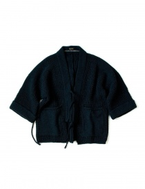 Womens suit jackets online: Kapital wool blue kimono jacket