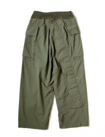 Kapital green cargo trousers with elastic band K1709LP082-KHAKI-PANTS