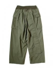 Pantalone cargo Kapital verde con elastico K1709LP082 KHAKI PANTS