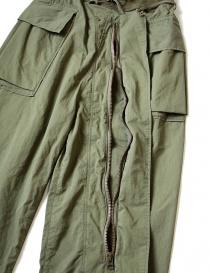 Pantalone cargo Kapital verde con elastico pantaloni uomo acquista online