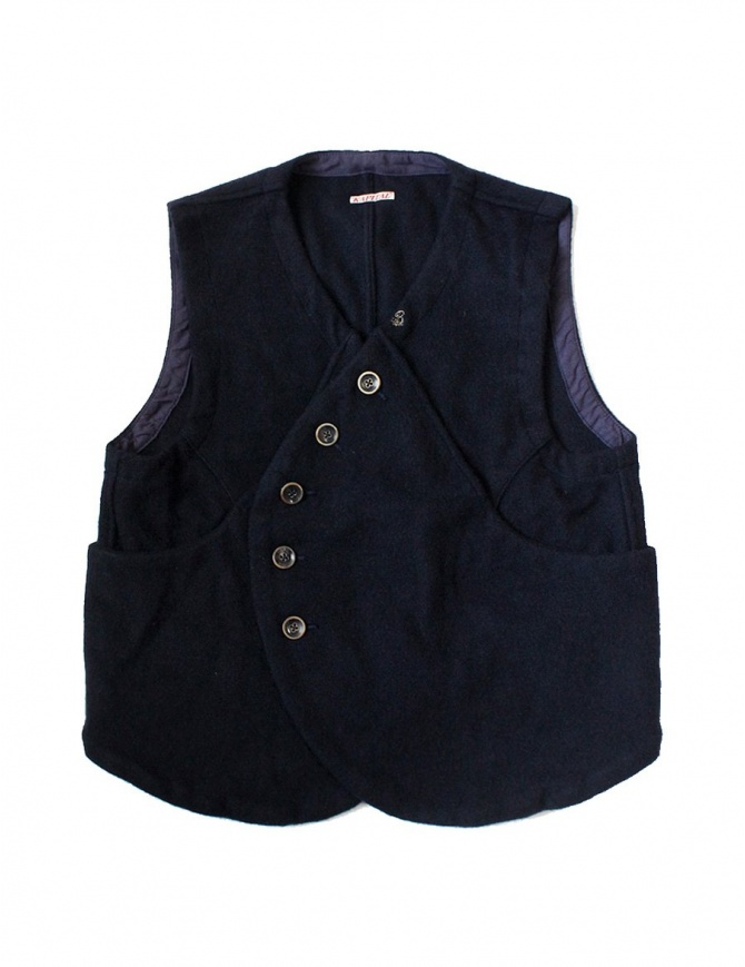 Kapital blue wool gilet EK-202-NAVY-VEST womens vests online shopping