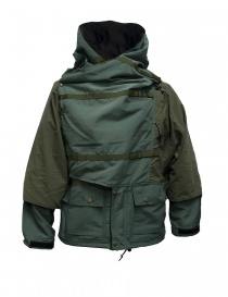 Kapital Kamakura green and grey anorak jacket K1710LJ162-KHAKI.PARKA order online