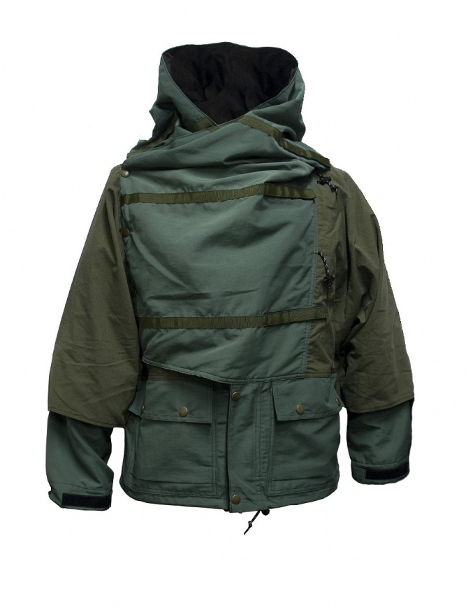 Kapital Kamakura green and grey anorak jacket K1710LJ162-KHAKI.PARKA mens jackets online shopping