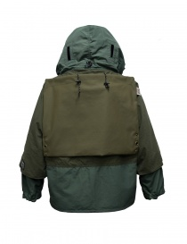 Kapital Kamakura green and grey anorak jacket