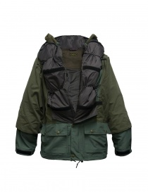 Kapital Kamakura green and grey anorak jacket price
