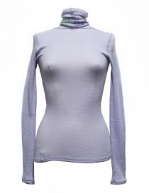 Womens knitwear online: Beautiful People turtle neck purple pullover