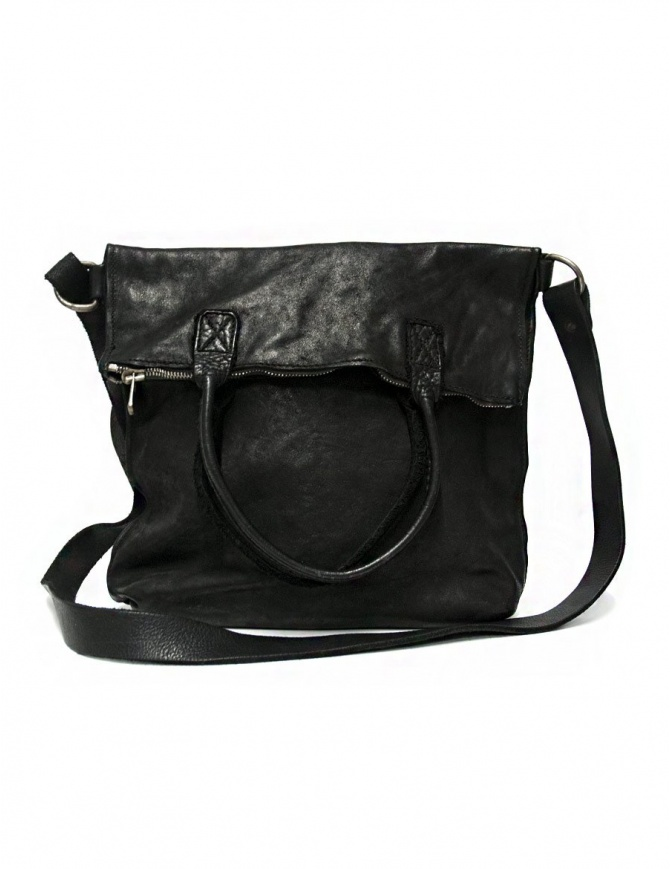 Guidi MR09 black leather bag MR09-BLKT-SOFT-HORSE bags online shopping