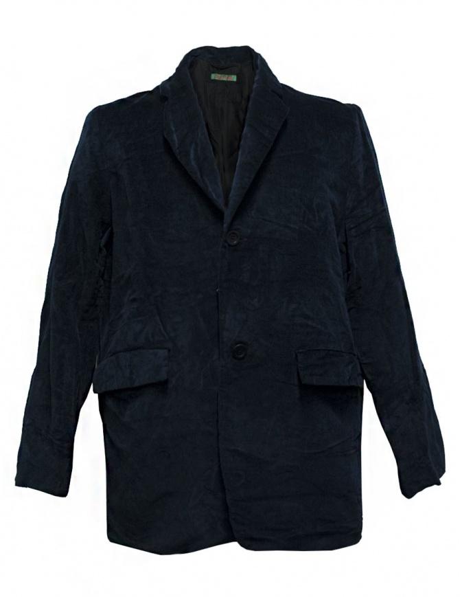 Casey Casey navy velvet jacket 09HV145-VEL-NAVY mens suit jackets online shopping