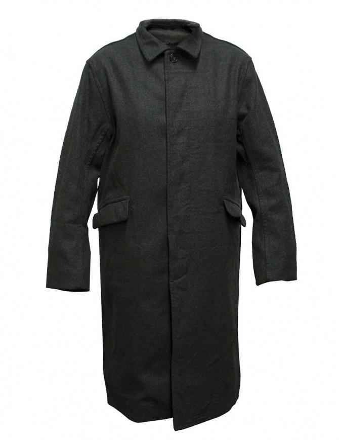 Cappotto Casey Casey in lana grigio verde 09HM56-MIL-KAKI cappotti uomo online shopping