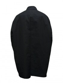 Casey Casey waxed cotton black coat