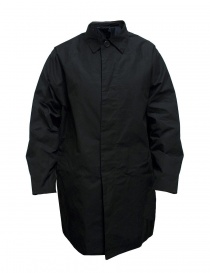 Mens coats online: Casey Casey waxed cotton black coat