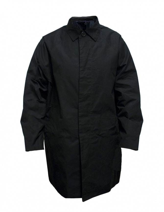 Casey Casey waxed cotton black coat 09HM49-H-WAX-BLK mens coats online shopping