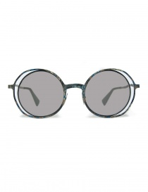 Glasses online: Kuboraum Maske H10 colored metallic sunglasses