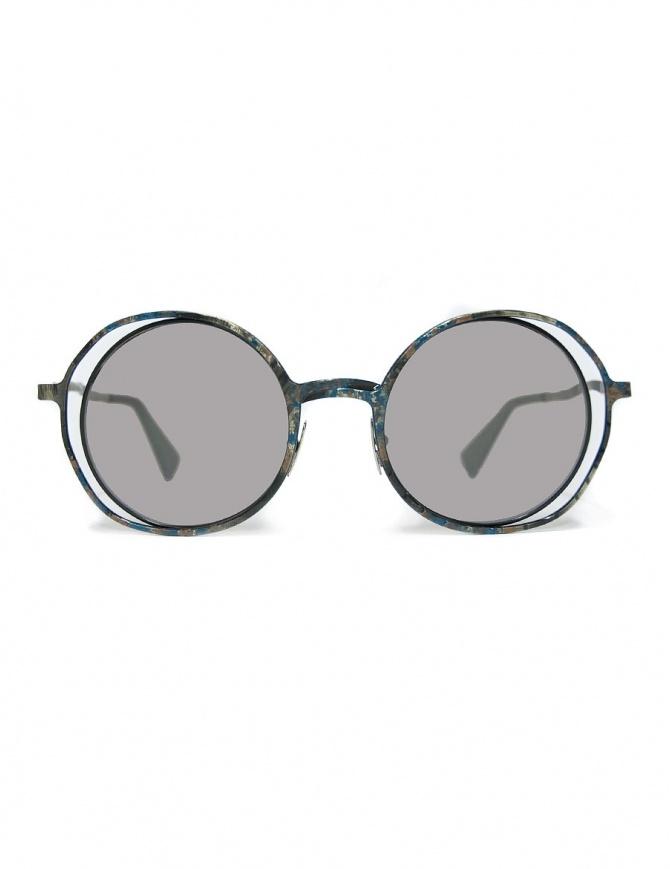 Occhiale da sole Kuboraum Maske H10 in metallo colorato H10-48-21-BG-BSILVER occhiali online shopping