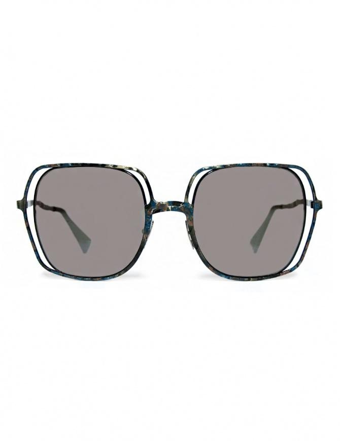 Occhiale da sole Kuboraum Maske H14 in metallo colorato H14-48-21-BG-BSILVER occhiali online shopping