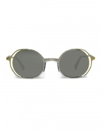 Glasses online: Kuboraum Maske H11 silver gold metal sunglasses