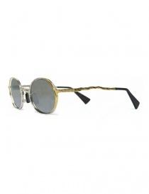 Occhiale da sole Kuboraum Maske H11 in metallo colore argento oro