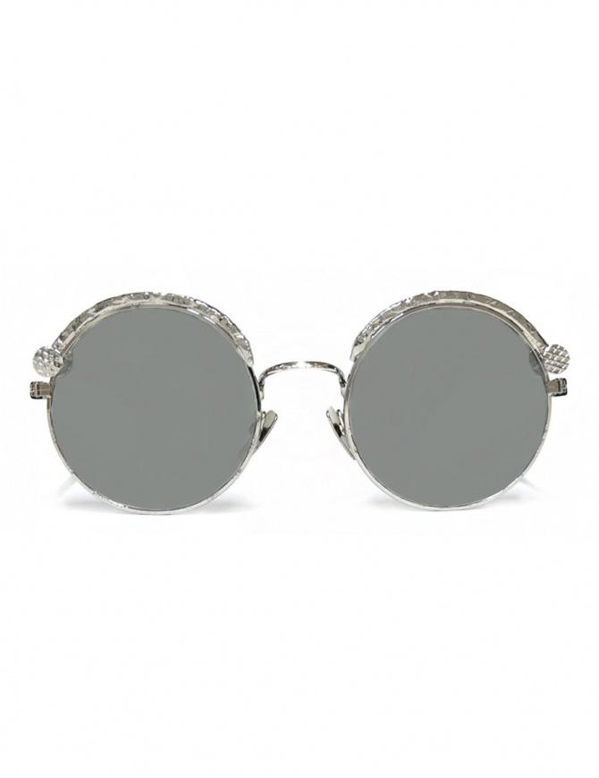 Occhiale da sole Kuboraum Maske Z1 in metallo colore argento Z1-49-20-SI-SILVER occhiali online shopping