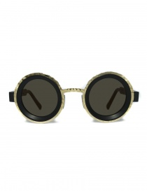 Glasses online: Kuboraum Maske Z3 matte black gold sunglasses