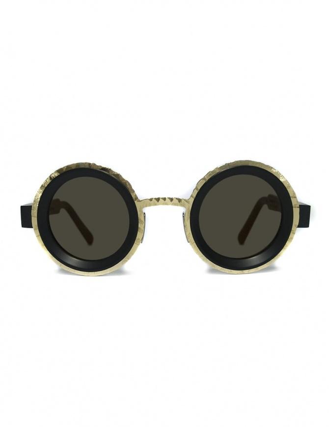 Occhiale da sole Kuboraum Maske Z3 colore nero opaco e oro Z3-41-31-GD-FGOLD occhiali online shopping
