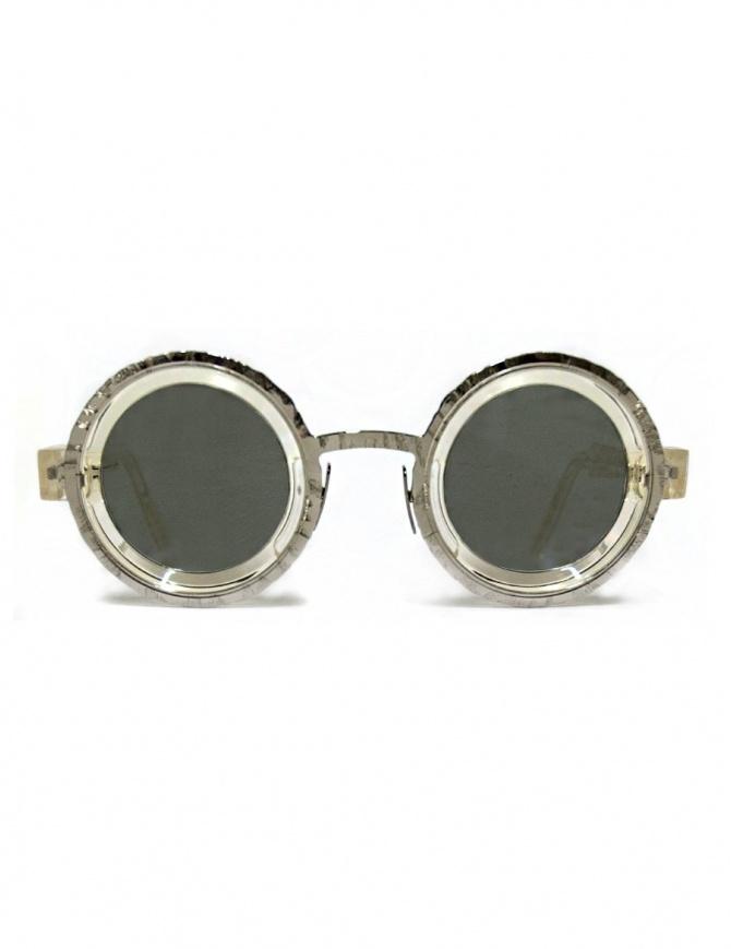 Occhiale da sole Kuboraum Maske Z3 in acetato trasparente e metallo Z3-41-31-CHP-SILVER occhiali online shopping