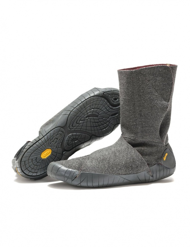 Vibram Furoshiki Russian Felt gray and red boots 17OCH05-RUSSIAN-GREY-RED womens shoes online shopping