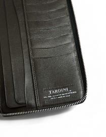 Tardini black satin alligator leather travel wallet wallets buy online