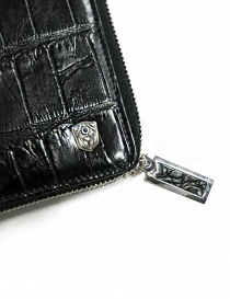 Tardini black satin alligator leather travel wallet wallets price