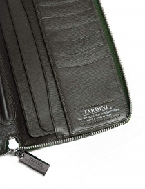 Tardini oil green satin alligator leather travel wallet wallets buy online