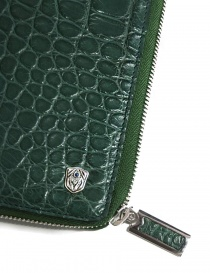 Tardini oil green satin alligator leather travel wallet wallets price