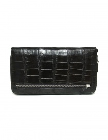 Bags online: Tardini dark brown waxed alligator leather handbag