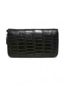 Tardini dark brown waxed alligator leather handbag price
