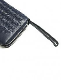 Portadocumenti Tardini in pelle di alligatore intrecciata colore blu borse prezzo