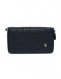 Bags online: Tardini woven alligator leather blue documents case